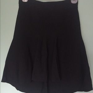 Mini skirt - high- low black mini skirt